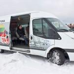 Mikroautobusuose patogu sėdėti, nes tarpai tarp sėdynių nėra siauri.
