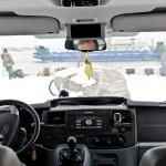 Važiuodami galėsite gerėtis vaizdais ne tik pro šoninius langus, bet ir per priekinį stiklą.