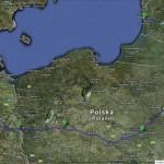 Kelionės maršrutas iš Klaipėdos į Padborgą (Danija).